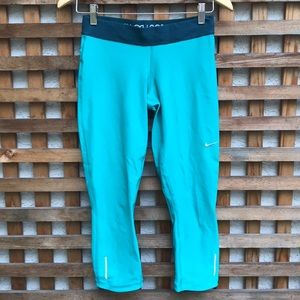 Nike Dri Fit Teal Crop Leggings S